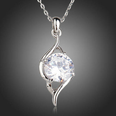 Cubic Zirconia Pendant Necklace - KHAISTA Fashion Jewellery