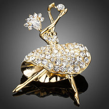 Load image into Gallery viewer, Dancing Girl Crystal Pin Brooch - KHAISTA Fashion Jewellery