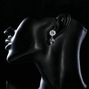 Dangling Crystal Drop Earrings - KHAISTA Fashion Jewellery