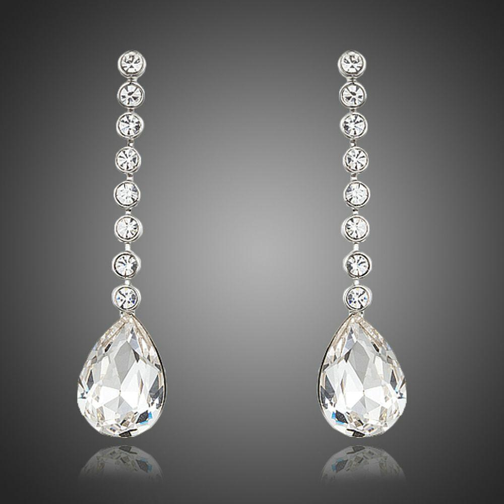 Dangling Crystal Water Drop Earrings - KHAISTA Fashion Jewellery