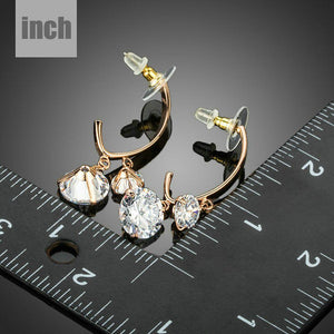 Dangling Cubic Zirconia Drop Earrings - KHAISTA Fashion Jewellery