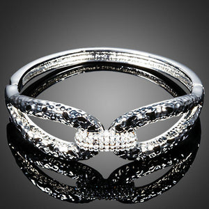 Designer Crystal Cuff Bangle - KHAISTA Fashion Jewellery