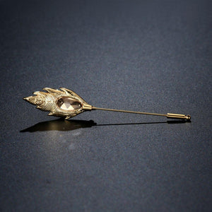 Elegant Champagne Brooch - KHAISTA Fashion Jewellery