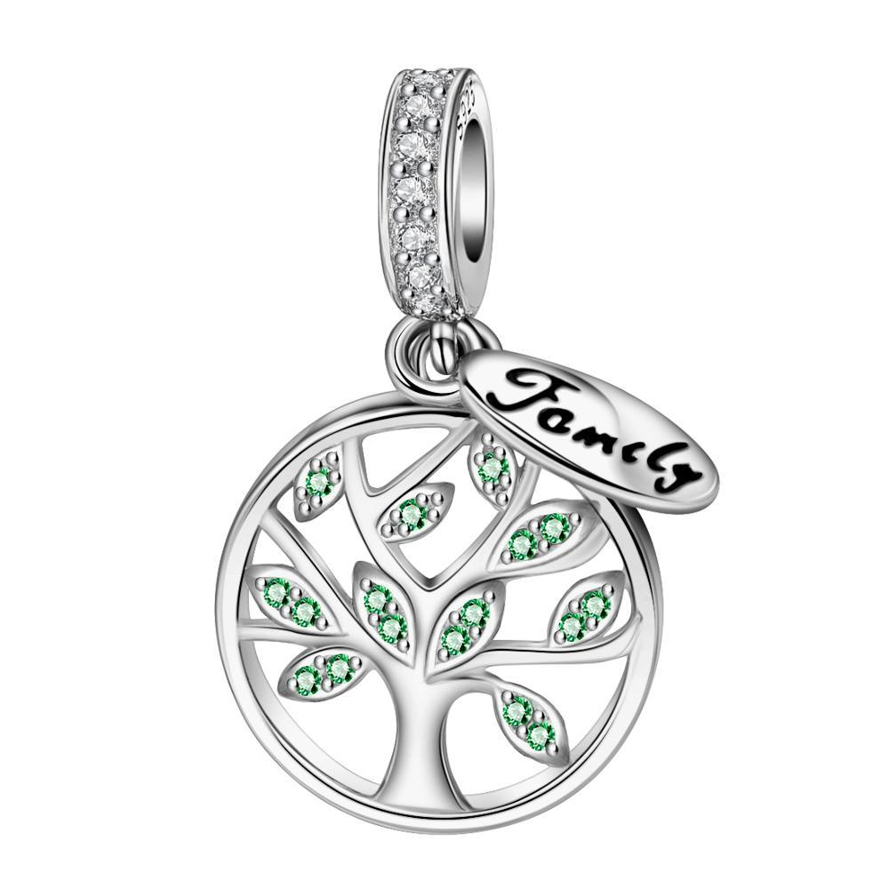 Family Life Tree 925 Sterling Silver Charm - KHAISTA