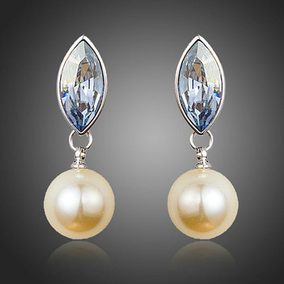 Fancy Pearl Drop Earrings - KHAISTA Fashion Jewellery