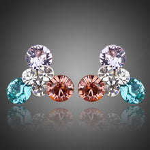Load image into Gallery viewer, Flowers Stellux Austrian Crystal Stud Earrings -KPE0033 - KHAISTA Fashion Jewellery