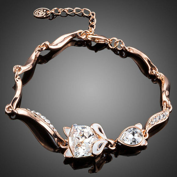 Fox Lady Crystal Bracelet - KHAISTA Fashion Jewellery