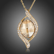 Load image into Gallery viewer, Geometric Champagne Crystal Pendant Necklace - KHAISTA Fashion Jewellery