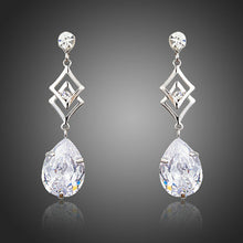Load image into Gallery viewer, Geometric Cubic Zirconia Earrings - KHAISTA Fashion Jewellery