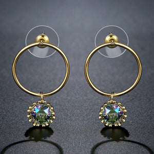 Geometric Dangle Earrings -KPE0381 - KHAISTA Fashion Jewellery