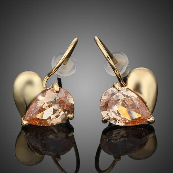 Gold Plated Broken Heart Drop Earring - KHAISTA Fashion Jewellery
