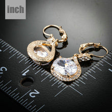 Load image into Gallery viewer, Gold Plated Cubic Zirconia Love Drop Earrings - KHAISTA Fashion Jewellery