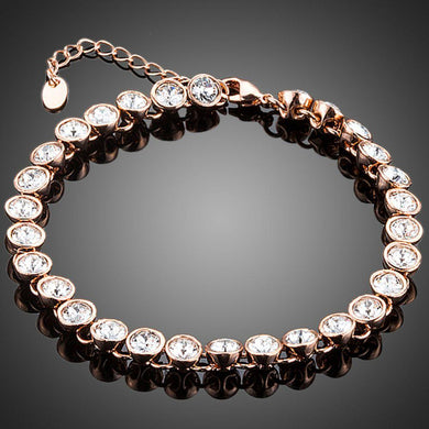 Gold Plated Designer Tennis Bracelet - KHAISTA Fashion Jewellery