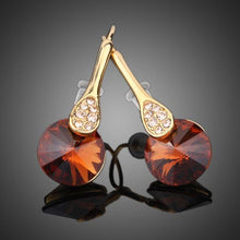 Load image into Gallery viewer, Gold Plated Maple Leaf Design Drop Earrings - KHAISTA Fashion Jewellery