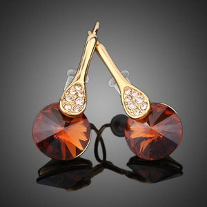 Gold Plated Maple Leaf Design Drop Earrings - KHAISTA Fashion Jewellery