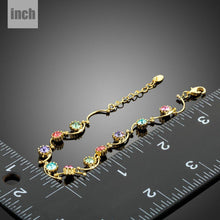 Load image into Gallery viewer, Gold Plated Muffin Crystal Bracelet - KHAISTA Fashion Jewellery