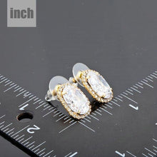 Load image into Gallery viewer, Gold Plated Oval Stud Earrings - KHAISTA Fashion Jewellery