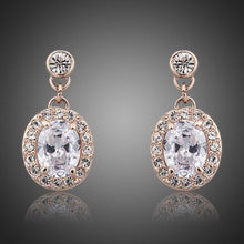 Load image into Gallery viewer, Gold Plated Prolate Crystal Drop Earrings - KHAISTA Fashion Jewellery