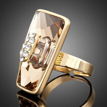 Load image into Gallery viewer, Golden Champagne Adjustable Ring -KFR0026 - KHAISTA