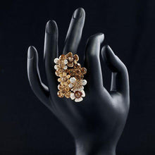 Load image into Gallery viewer, Golden Champagne Flowers Ring -KFR0030 - KHAISTA