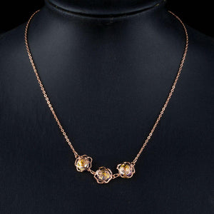 Golden Flower Necklace KPN0168 - KHAISTA Fashion Jewellery