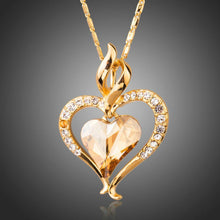 Load image into Gallery viewer, Golden Heart Necklace Love Link Chain - KHAISTA Fashion Jewellery