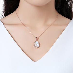 Golden Long Chain Pendant Necklace KPN0248 - KHAISTA Fashion Jewellery