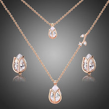 Load image into Gallery viewer, Golden Lotus Fashionable Jewelry Set for Women - KHAISTA Fashion Jewellery