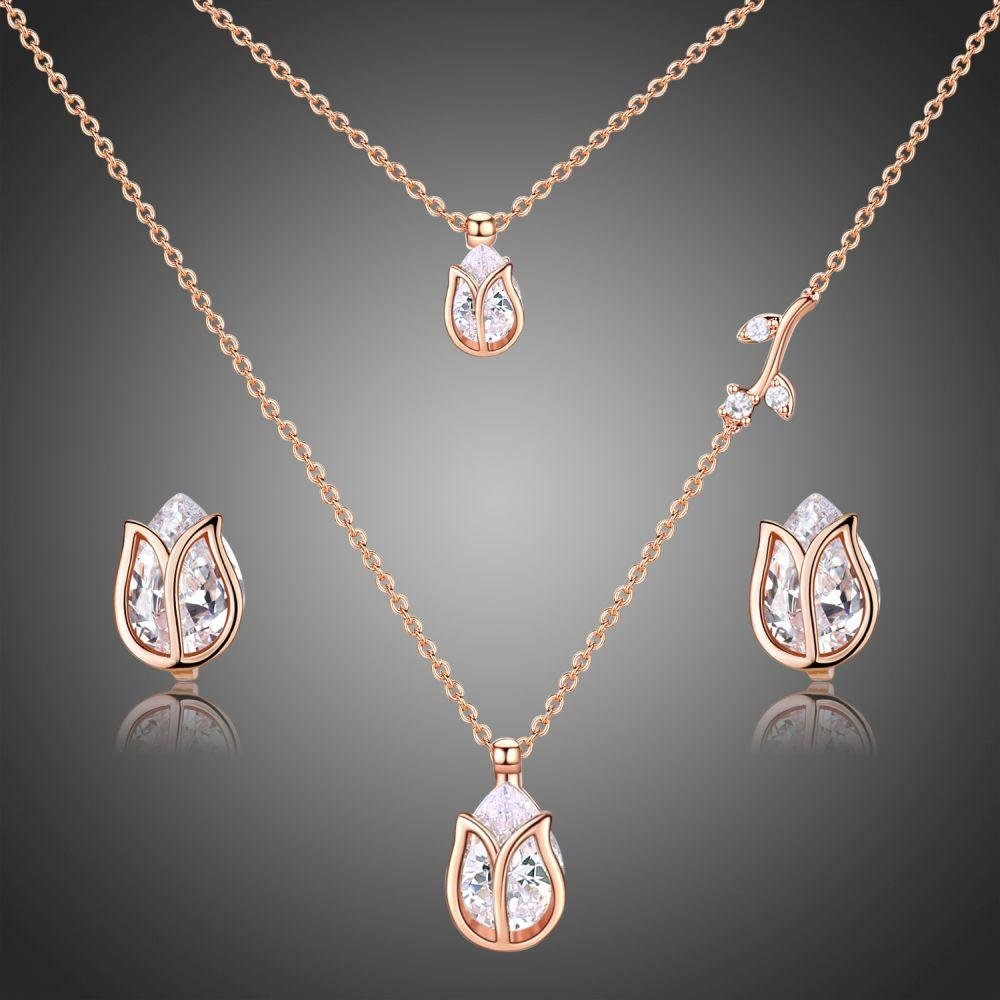 Golden Lotus Fashionable Jewelry Set for Women - KHAISTA Fashion Jewellery
