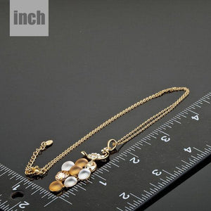 Golden Peacock Train Pendant Necklace KPN0059 - KHAISTA Fashion Jewellery