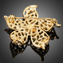 Load image into Gallery viewer, Golden Pearl Flower Pin Brooch - KHAISTA Fashion Jewellery