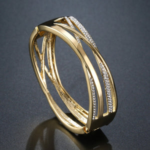 Golden Reflexions Bangle -KBQ0111 - KHAISTA Fashion Jewelry