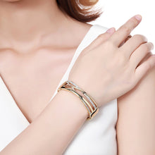 Load image into Gallery viewer, Golden Reflexions Bangle -KBQ0111 - KHAISTA Fashion Jewelry