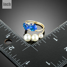 Load image into Gallery viewer, Golden Simulated Pearl Finger Ring - KHAISTA Fashion Jewellery
