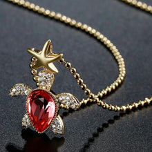 Load image into Gallery viewer, Golden Tortoise Pendant Necklace -KFJN0290 - KHAISTA3