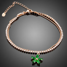 Load image into Gallery viewer, Green Flower Charm Bracelet - KHAISTA Fashion Jewellery