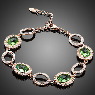 Green Stone Designer Bracelet - KHAISTA Fashion Jewellery