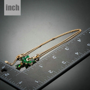 Green Swan Pendant Necklace KPN0125 - KHAISTA Fashion Jewellery