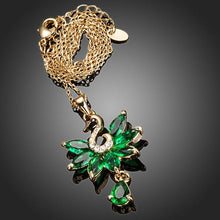 Load image into Gallery viewer, Green Swan Pendant Necklace KPN0125 - KHAISTA Fashion Jewellery