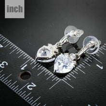 Load image into Gallery viewer, Heart Clear Shape Drop Earrings -KPE0137 - KHAISTA Fashion Jewellery