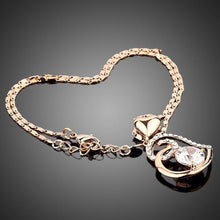 Load image into Gallery viewer, Heart Shaped Snake Chain Necklace - KHAISTA Fashion Jewellery