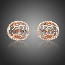 Load image into Gallery viewer, Hollow Flower Stud Earrings -KPE0283 - KHAISTA Fashion Jewellery