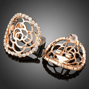Hollow Flower Stud Earrings -KPE0283 - KHAISTA Fashion Jewellery