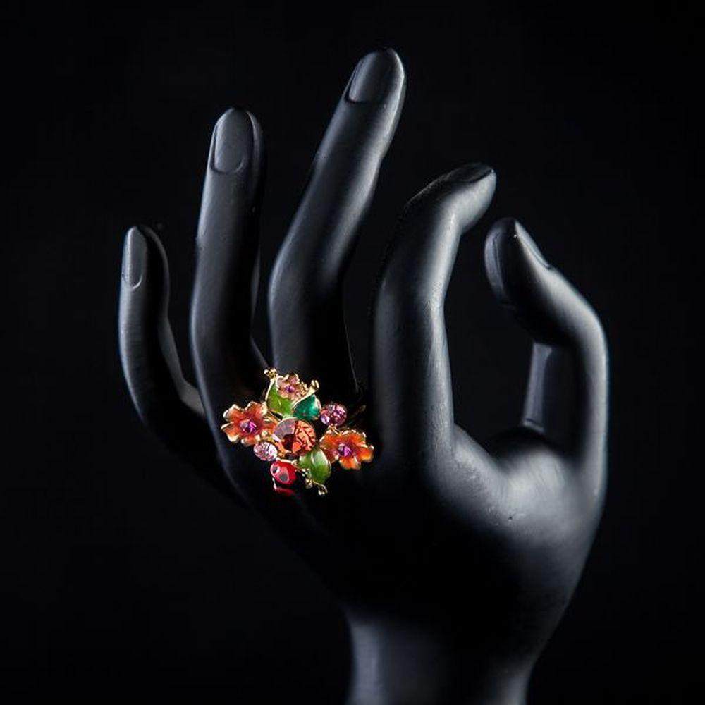 Insects and Flower Ring - KHAISTA Fashion Jewellery