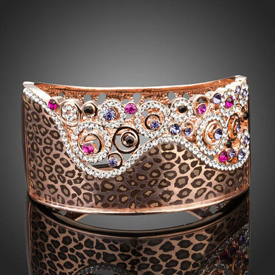 Jaguar Print Crown Bangle - KHAISTA Fashion Jewellery