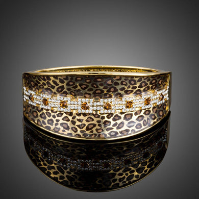 Leopard Cuff Shaped Bangle - KHAISTA Fashion Jewellery