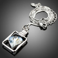 Load image into Gallery viewer, Light Blue Crystal Heart Pendant Necklace-KST0231-khaista-2