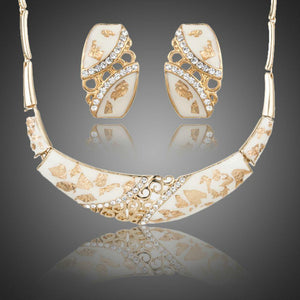 Light Gold Stud Earrings and Pendant Necklace Jewelry Set - KHAISTA Fashion Jewellery