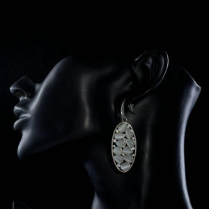 Light Grey Crystal Oval Drop Earrings-khaista-MJE0248-4