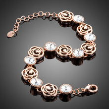 Load image into Gallery viewer, Lightweight Crystal Flower Design Bracelet - KHAISTA Fashion Jewellery